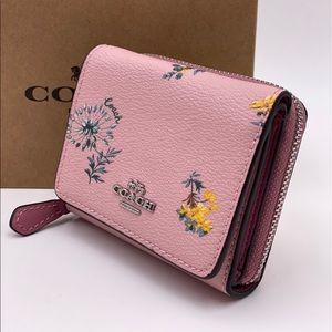 Coach Small Trifold Wallet Blossom Multi